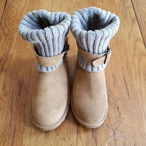 Ugg wool knit leather boots